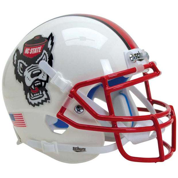 NC State Wolfpack White Tuffy Schutt XP Authentic Football Helmet