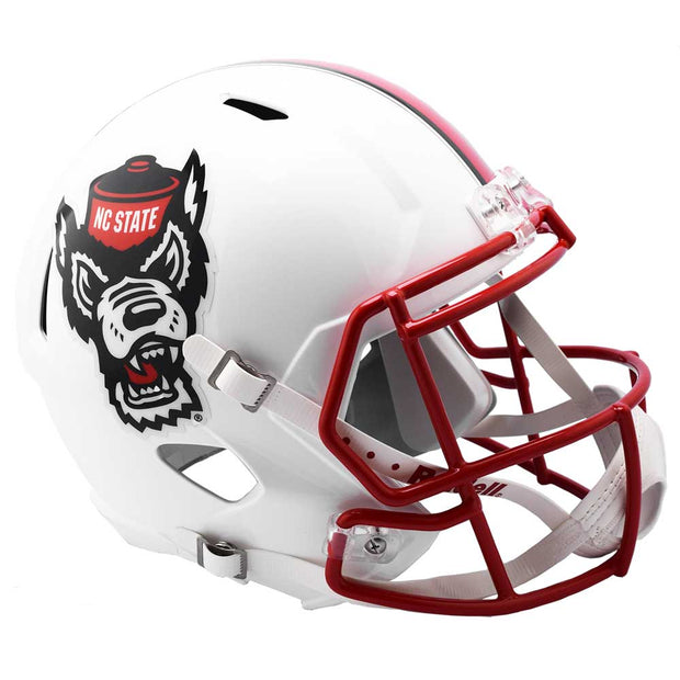NC State Wolfpack White Tuffy Speed Full Size Replica Football Helmet