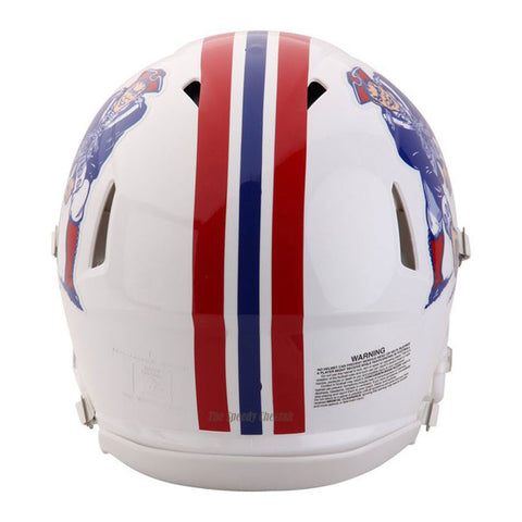 New England Patriots White Riddell Revolution Speed Authentic Football Helmet