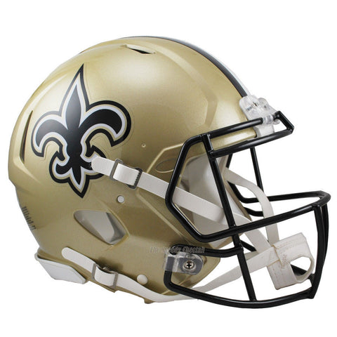 New Orleans Saints Riddell Revolution Speed Authentic Football Helmet