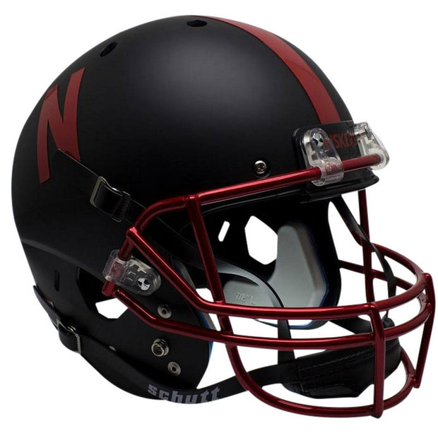 Nebraska Cornhuskers Black Chrome Grill Schutt XP Replica Football Helmet