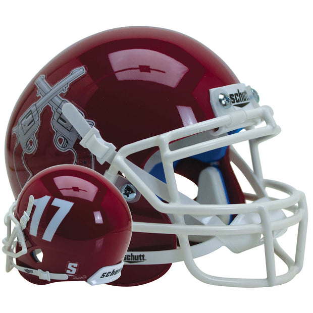 New Mexico State Aggies Red 17 Schutt XP Replica Football Helmet