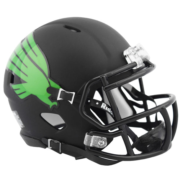 North Texas Mean Green Black Speed Mini Football Helmet