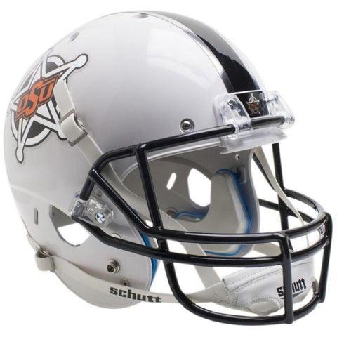 OK State Cowboys White Badge Schutt XP Replica Football Helmet