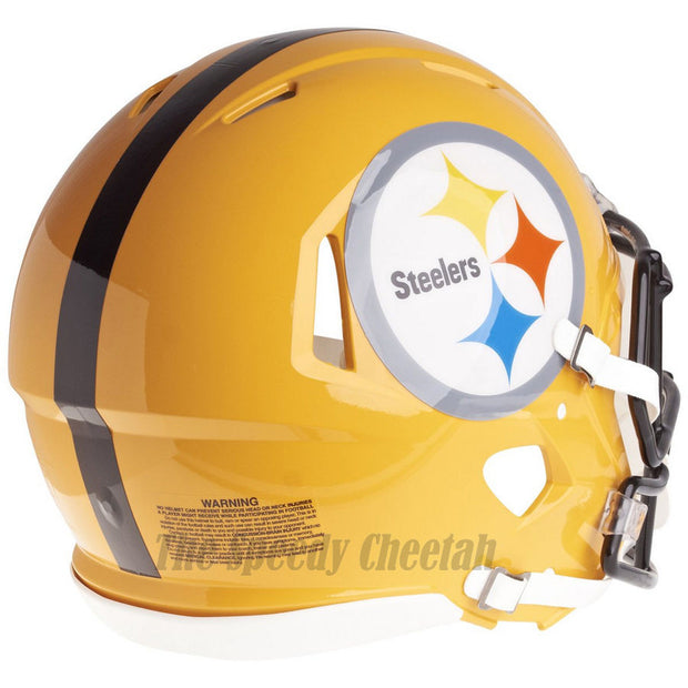 Pittsburgh Steelers Gold Riddell Speed Authentic Football Helmet