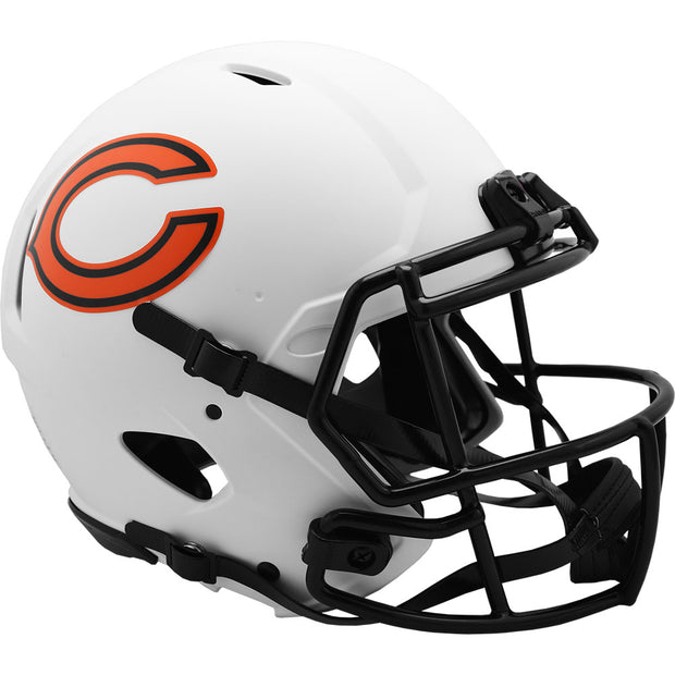 Chicago Bears Riddell White Lunar Eclipse Authentic Football Helmet