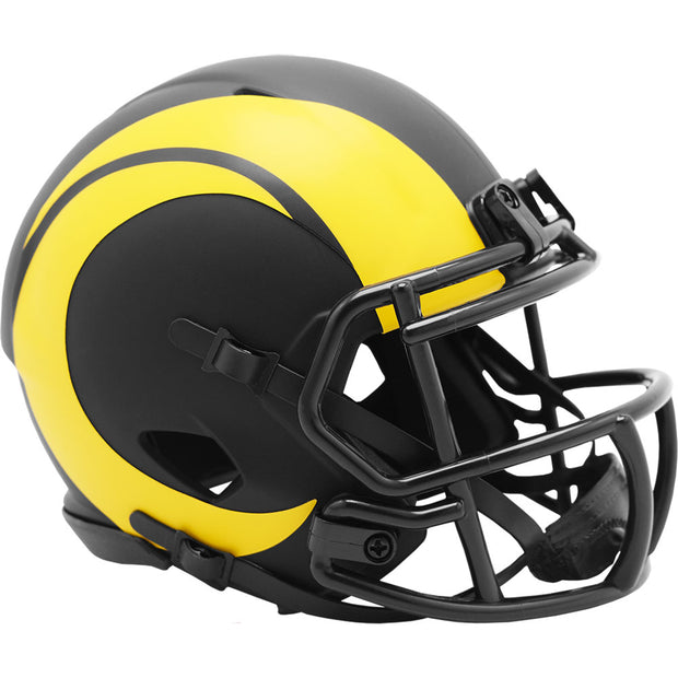 LA Rams Riddell Black Eclipse Mini Football Helmet