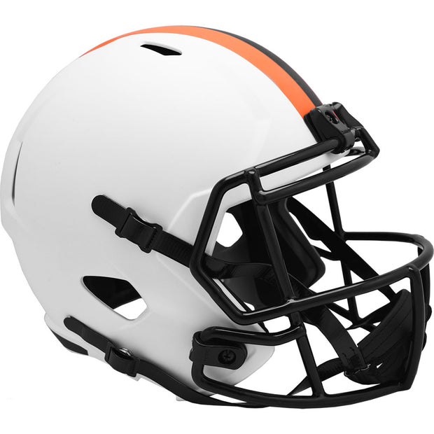 Cleveland Browns Riddell White Lunar Eclipse Full Size Replica Football Helmet