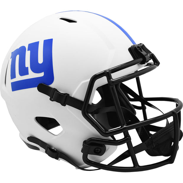 New York Giants Riddell White Lunar Eclipse Full Size Replica Football Helmet