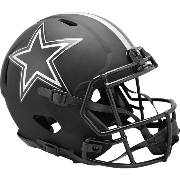 Dallas Cowboys Riddell Black Eclipse Authentic Football Helmet