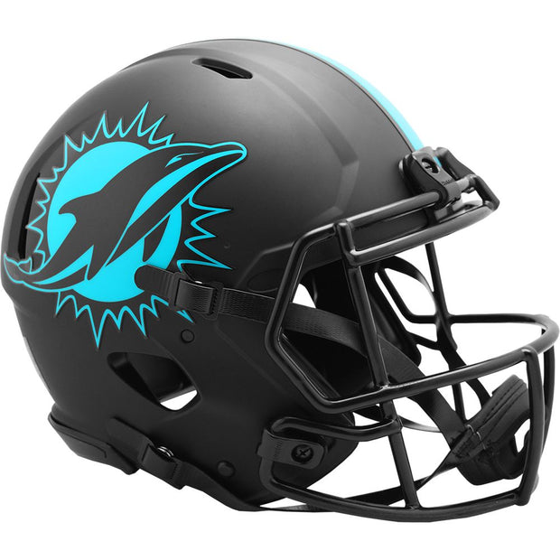 Miami Dolphins Riddell Black Eclipse Authentic Football Helmet