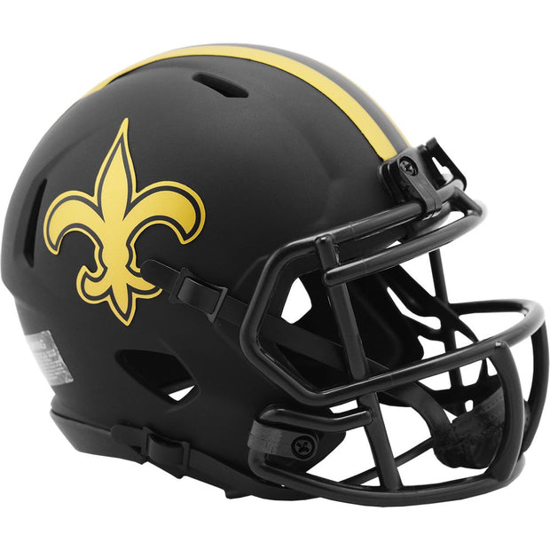 New Orleans Saints Riddell Black Eclipse Mini Football Helmet