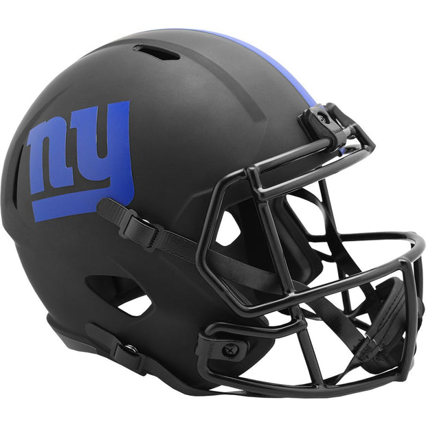 New York Giants Black Eclipse Riddell Speed Full Size Replica Football Helmet