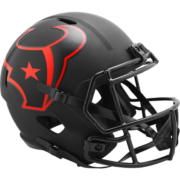 Houston Texans Riddell Black Eclipse Full Size Replica Football Helmet