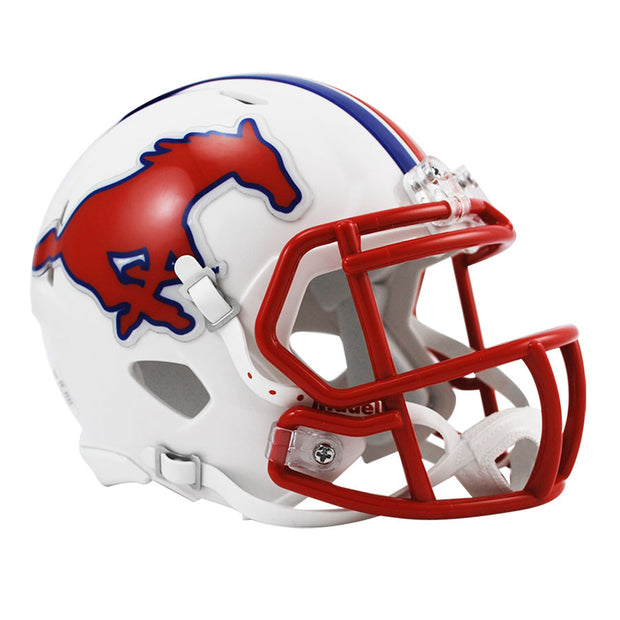 SMU Mustangs Riddell Speed Mini Football Helmet