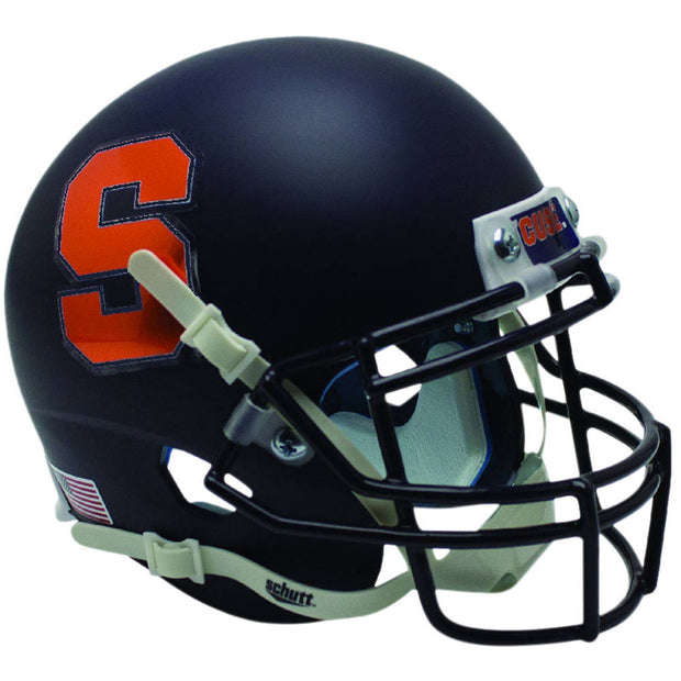 Syracuse Orange Matte Navy Schutt XP Replica Football Helmet
