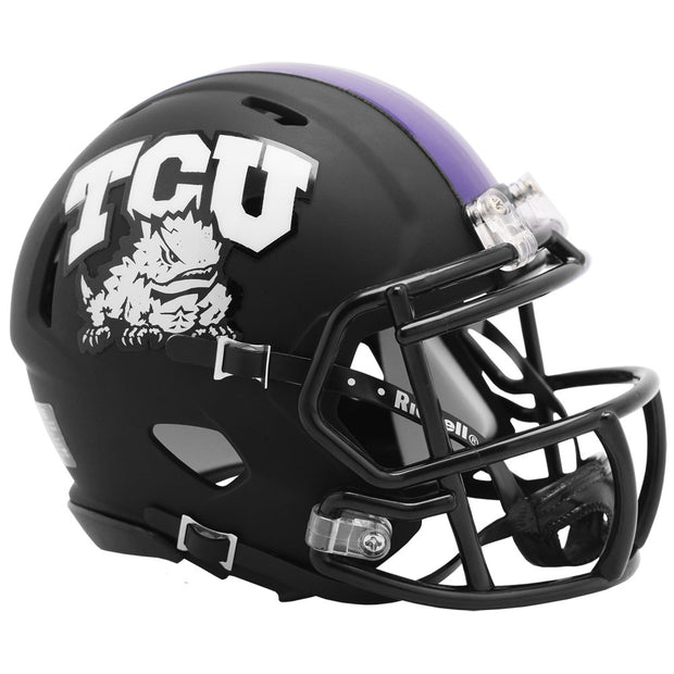 TCU Horned Frogs Black Riddell Speed Mini Football Helmet