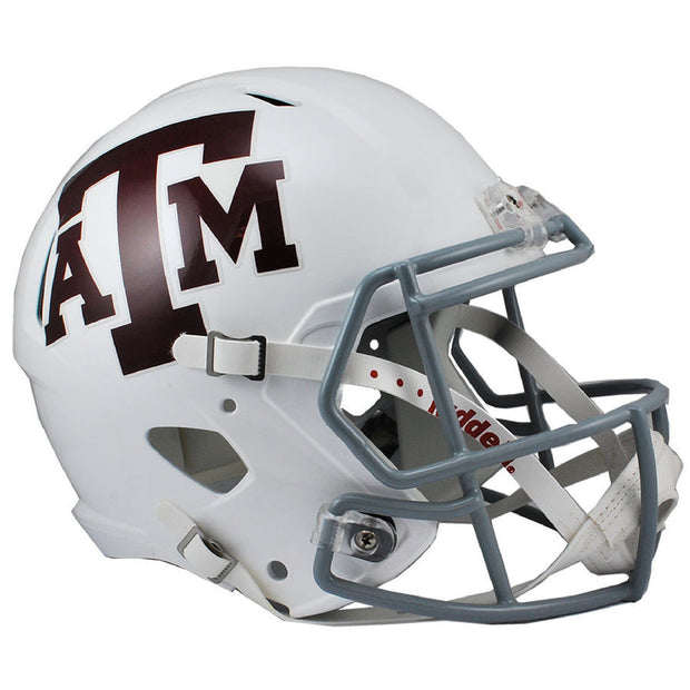 Texas A&M Aggies White Riddell Speed Full Size Replica Football Helmet