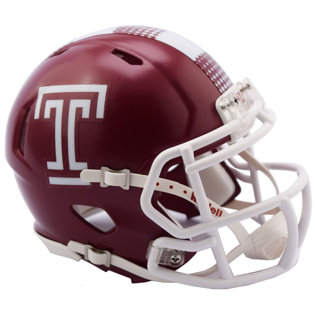 Temple Owls Riddell Speed Mini Football Helmet