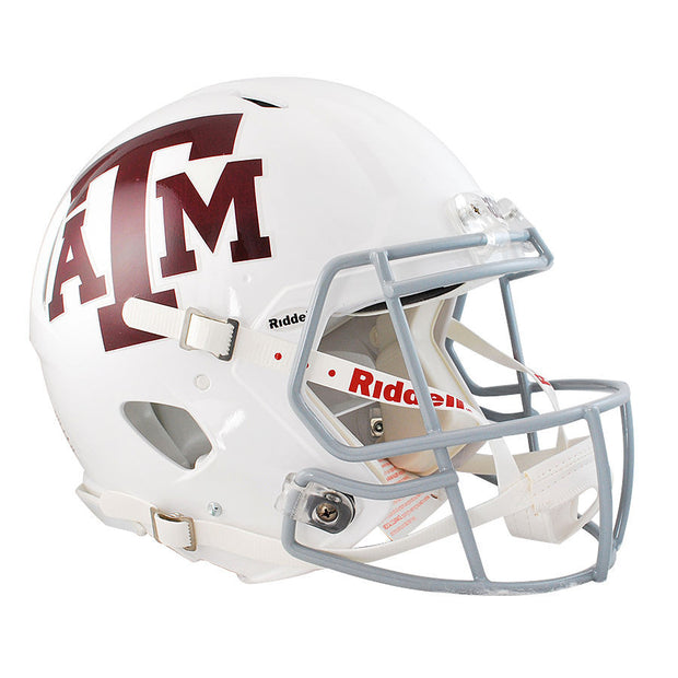 Texas A&M Aggies White Riddell Speed Authentic Football Helmet