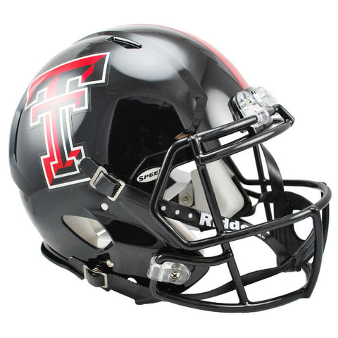 Texas Tech Red Raiders Chrome Decal Speed Authentic Football Helmet