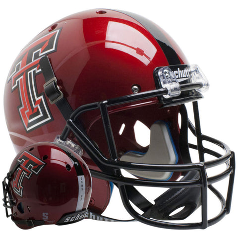 Texas Tech Red Raiders Guns Up Red Schutt XP Replica Football Helmet
