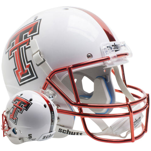 Texas Tech Red Raiders Guns Up White Schutt XP Replica Football Helmet