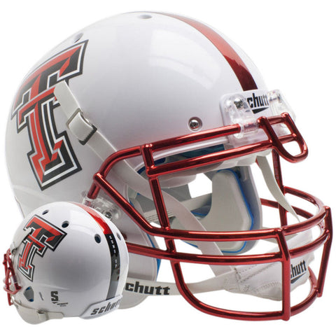 Texas Tech Red Raiders White Guns Up Schutt XP Authentic Football Helmet