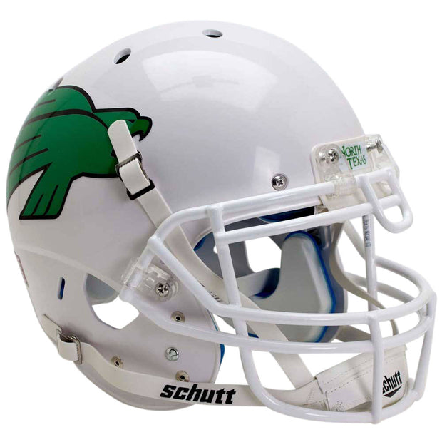 UNT Mean Green Glossy White Schutt XP Authentic Football Helmet