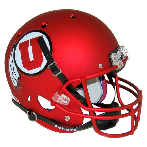 Utah Utes Satin Red Schutt XP Replica Football Helmet