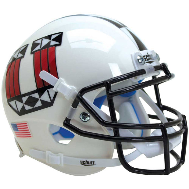 Utah Utes UTE Proud Black Grill Schutt XP Replica Football Helmet