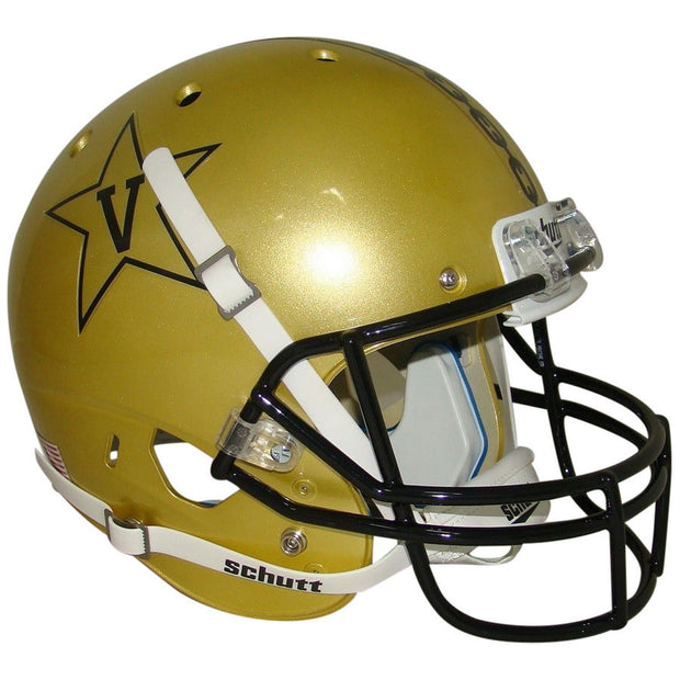 Vanderbilt Commodores Gold Anchor Schutt XP Authentic Football Helmet