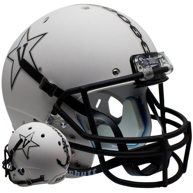 Vanderbilt Commodores White Anchor Schutt XP Replica Football Helmet