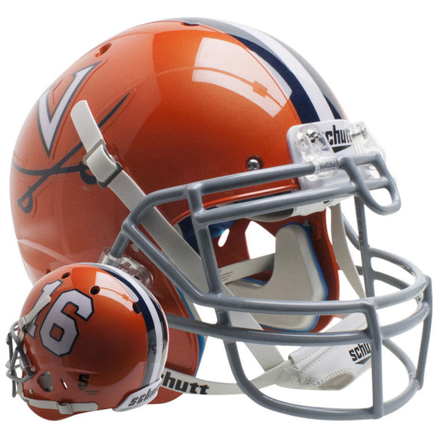 Virginia Cavaliers Orange 16 Schutt XP Authentic Football Helmet