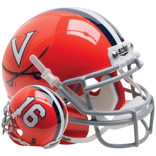 Virginia Cavaliers Orange 16 Schutt XP Replica Football Helmet
