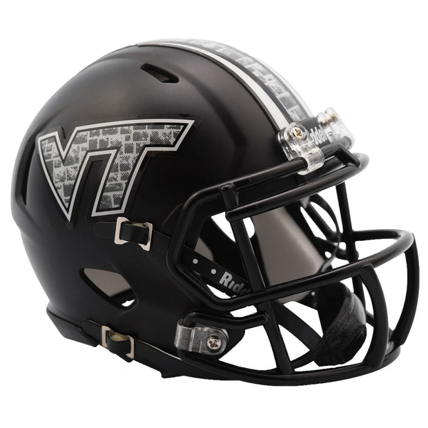 Virginia Tech Hokies Black Riddell Speed Mini Football Helmet