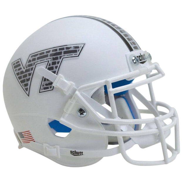 Virginia Tech Hokies White Brick Schutt XP Authentic Football Helmet