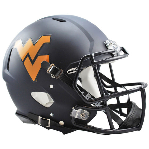 West Virginia Mountaineers Navy Riddell Speed Authentic Football Helmet