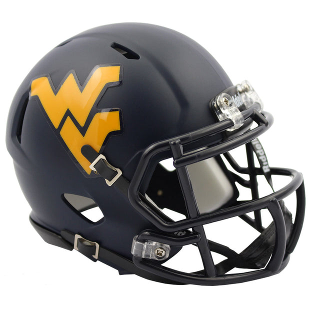 West Virginia Mountaineers Navy Speed Mini Football Helmet