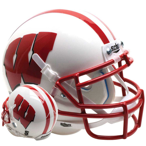 Wisconsin Badgers White Schutt XP Replica Football Helmet