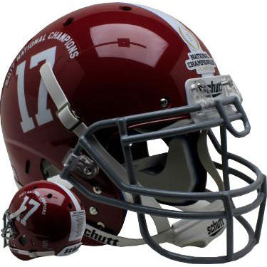 Alabama Crimson Tide 2017-18 National Champs Schutt XP Authentic Football Helmet