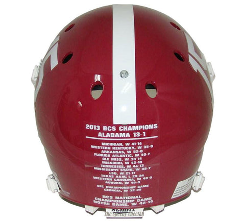 Alabama Crimson Tide 2013 Champs Schutt XP Authentic Football Helmet