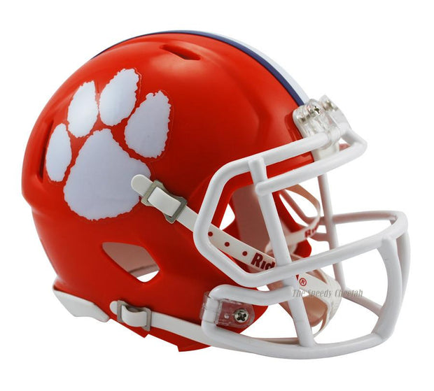 Clemson Tigers Riddell Mini Speed Football Helmet