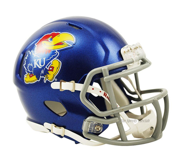 Kansas Jayhawks Riddell Mini Speed Football Helmet