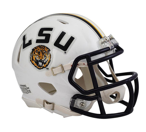 LSU Tigers Riddell Speed Mini Football Helmet  White