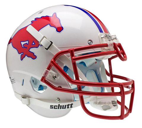 SMU Mustangs Schutt XP Authentic Football Helmet