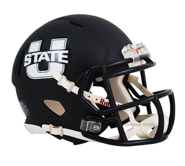 Utah State Aggies Navy Riddell Mini Speed Football Helmet