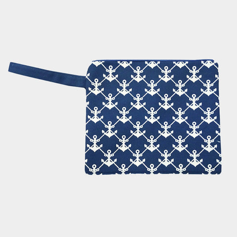 Navy Anchor Wet Bikini Bag