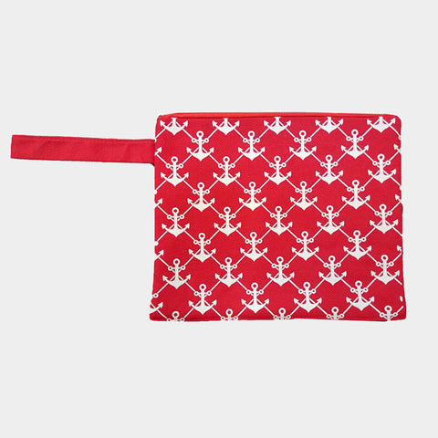 Red Anchor Wet Bikini Bag