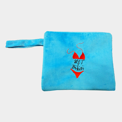 Blue Wet Bikini Bag